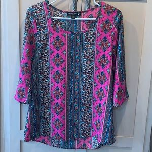 Living Doll 3/4 sleeve bell paisley blouse pretty
